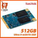 【送料無料】SDMSATA-512G-G25C [Ultra II SSD(512GB mSATA 6G 3年保証)]