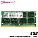 【送料無料】トランセンド TS1GSK64V6H [8GBメモリ DDR3 1600 SO-DIMM CL11 2Rx8]