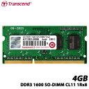 【送料無料】トランセンド TS512MSK64V6H [204pin 4GB DDR3 1600 SO-DIMM]