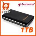 【送料無料】トランセンド TS1TSJ25D3 [USB3.0&2.0対応ポータブルHDD 1TB ブラック]