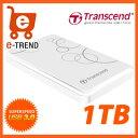 【送料無料】トランセンド TS1TSJ25A3W [USB3.0ポータブルHDD StoreJet 25A3 1TB ホワイト]