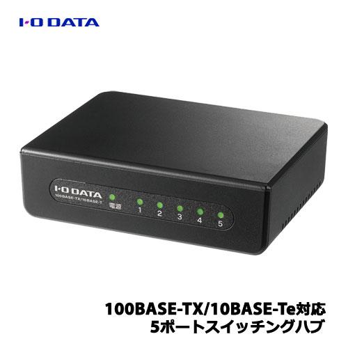 アイオーデータ ETX-ESH05KB [100BASE-TX/10BASE-Te 5ポートL2スイッチ ブラック]