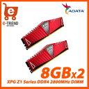 【送料無料】ADATA AX4U2800W8G17-DRZ [XPG Z1 Series DDR4 2800MHz(PC4-22400) 16GB(8GBx2枚...