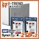 【送料無料】Synology DS216j-WR2T2 [高性能2ベイNAS DiskStation DS216j + WD Red 2TB WD20EFRX(2台)セット]