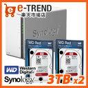 【送料無料】Synology DS216j-WR3T2 [高性能2ベイNAS DiskStation DS216j + WD Red 3TB WD30EFRX(2台)セット]