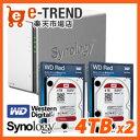 【送料無料】Synology DS216j-WR4T2 [高性能2ベイNAS DiskStation DS216j + WD Red 4TB WD40EFRX(2台)セット]
