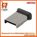 【送料無料】バッファロー BSBT4D09BK [Bluetooth4.0+EDR/LE対応 USBアダプター ブラック]