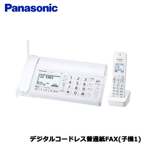 Panasonic(パナソニック)/おたっくす KX-PD205DL-W [デジタルコードレス普通紙FAX(子機1)(ホワイト)]