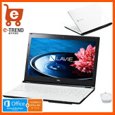 【送料無料】PC-SN232FSA8-2 [LAVIE Smart NS(S)(Core i3-6100U/4GB/500GB/15.6/DSM/マウス/Win10/H&B/ホワイト)]