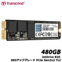 トランセンド TS480GJDM820 [480GB JetDrive 820 SSDアップグレード PCIe Gen3x2 TLC MacBook Pro/MacBook/Mac mini用]