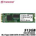 トランセンド TS512GMTS800S 512GB SSD MTS800S M.2 Type 2280 SATA-III 6Gb/s MLC NAND