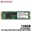 トランセンド TS128GMTS800S 128GB SSD MTS800S M.2 Type 2280 SATA-III 6Gb/s MLC NAND
