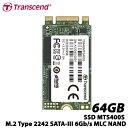トランセンド TS64GMTS400S [64GB SSD MTS400S M.2 Type 2242 SATA-III 6Gb/s MLC NAND]