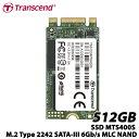 トランセンド TS512GMTS400S 512GB SSD MTS400S M.2 Type 2242 SATA-III 6Gb/s MLC NAND