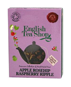 有機JAS認定 English Tea Shopイングリッシュティーショップオーガニックティーアップルローズヒップラズベリーリップルミニペーパーボックス【1TB】 フェアトレード