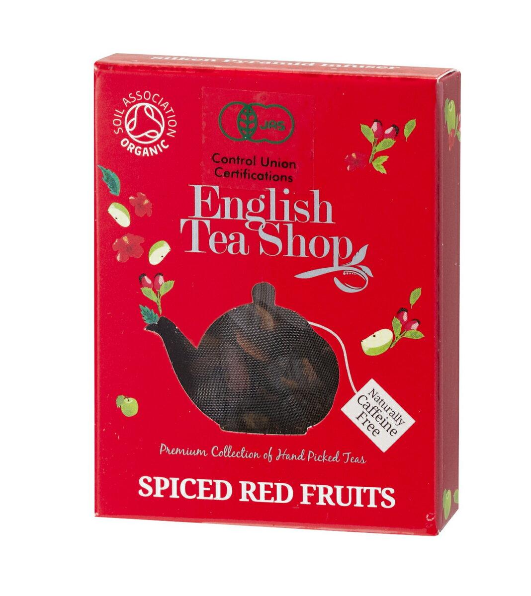 有機JAS認定 English Tea Shopイングリッシュティーショップオーガニックティースパイスレッドフルーツ【1】ミニペーパーボックス フェアトレード