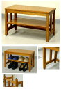 木製の玄関ベンチ 60センチ幅 7.0kg[EB-603N]