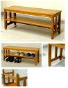 木製の玄関ベンチ 87センチ幅 9.0kg[EB-873N]