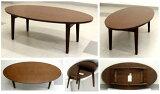 折りたたみテーブル だ形 幅100 奥行50濃い茶色 8.3kg[オーバルテーブル OT-1050 Dブラウン]