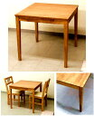 食堂テーブル 幅75 奥行75角の四角いタイプ 16.0kg[ダイニングテーブル アレン 75X75]