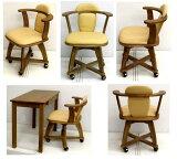 木製 キャスター付き 回転椅子幅53 薄い木目 10.0kg[キャスターツキ カイテンチェアコンボ NO.530 Dナチュラル]
