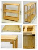 木製の棚(背板のないタイプ) ナチュラル色高さ80 幅79 奥行30(新商品) 8.4kg[シェルフ FR-879S Sナチュラル]