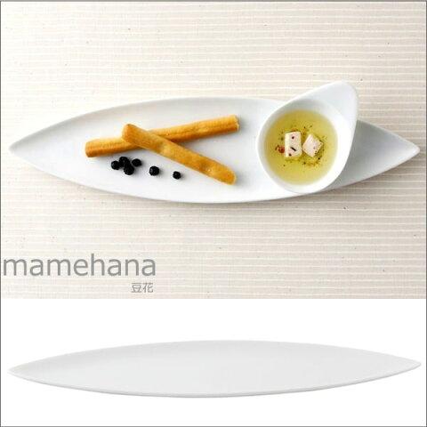 【ポイント10倍】『小田陶器 mamehana 豆花 葉皿 白』【食器 日本製 皿 プレート 葉皿】【クーポン対象商品】