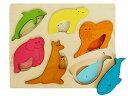 [George Luck ジョージラック]木製2重パズル 動物の親子〜イギリスGEORGE LUCKジョージラック社製の木製知育のパズル。