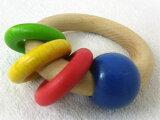 【GO-20476】[Gogo Toys gogotoizu公司]木制布偶 指环吊链?是gogotoizu公司的牙齿巩固,附有作为直爽也能使用的指环的木制布偶。[[Gogo Toys ゴーゴートイズ社]木製ラトル リングスリング〜ゴーゴートイズ社の歯