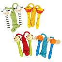 Linda Toy リンダトーイ 動物のなわとび 4個セット〜Linda Toyの可愛らしい動物の縄跳び4種類セットです。縄跳びの持ち手には動物のお..