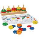 【SALE】Gogo Toys ゴーゴートイズ社 形と色分けあそび〜ゴーゴートイズ社の色と形のお勉強ができる知育玩具です。パターンカードに合わせて形や色に分けて...