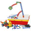 イタリア・ケルチェッティ社の子どもの大好きな「ネジ」と「工具」が、持ち運びできるツールボックスに入った組み立て遊び工具セットです。本格的な大工さんごっこを楽しめます。