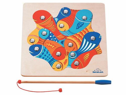 BorneLundボーネルンド魚つりパズル〜魚つりとパズルが楽しめるボーネルンドのロングセラーの木製