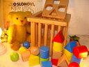 [ダイワ]形合わせ積み木バスケット〜積み重ねて遊んだり色分けしながら遊んだり。