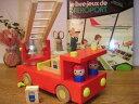 [Ed.inter エドインター]木製消防車 森の消防隊〜男の子に人気!働く車のはしごのおもちゃ。