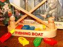 [Ed.inter エドインター]フィッシングボート〜マグネットが付いた釣りざおで、可愛い二匹のクマんが、カラフルなおさかなを釣り上げます。