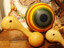 [Finkbeiner フィンクバイナー社]コロコロかたつむりさん パパ 虹色〜ドイツの木製ホイールトーイ-レインボー、パパ(大)です。【SALE1031】