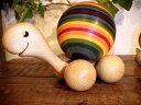 [Finkbeiner フィンクバイナー社]コロコロかめさん パパ 虹色〜ホイールの動きにあわせて、背中のカラフルな木球がコロコロと回ります。