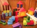 Grimm's Spiel & Holz Design グリムス社 カラー・幾何学積み木60