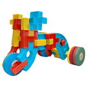 玩具 - 一歩社 はじめしゃ どこでもブロック〜一歩社(はじめしゃ)の柔らかくて安全性の高い素材で作られたブロック。タイヤが動く乗り物を作ることができるブロックです。
