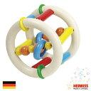 Heimess ハイメス リングラトル ローラー 出産祝い人気のドイツ製 Heimess(ハイメス)のカラフルな木製ビーズのラトル ガラガラ 赤ちゃんのおもちゃです。