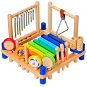 I'm Toy アイムトイ ミュージックステーション〜アイムトイの9種類の楽器が1台で遊べる木製楽器玩具ミュージックステーション!お子さまの好奇心を満足させてく...