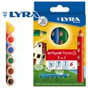 [メール便可] LYRA リラ社 Groove グルーヴトリプルワン 色鉛筆 6色セット〜ドイツ・LYRA(リラ社)の人間工学から考えられた色鉛筆。グルーヴトリプルワンは、1本でクレヨン・色鉛筆・水彩色鉛筆の3通りの描き方ができます。