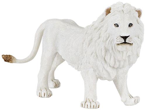PAPO パポ社 ホワイトライオン〜フランス、PAPO(パポ社)のWild Animalsシリーズ、野生の動物のフィギュア。ホワイトライオンのお父さんライオンのフィギュアです。