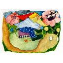 玩具, 興趣, 遊戲 - [メール便可] エバマリア・オットーハイドマン ポストカード かたつむりに乗って〜ドイツを代表する絵本作家、エバマリア・オットーハイドマンのイラストを用いたポストカード「ライディングシリーズ」。
