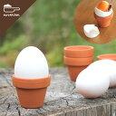 ドイツ製の小さくてかわいい素焼き鉢のエッグスタンド3個入りです♪