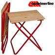 【カステルメルリーノ】 イタリア製 木製折りたたみチェアー 39 X 30cm
