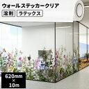 ショッピングウォールステッカー 壁・床用 ウォールステッカー クリア 620mm×10mロール【SIJ-WS02-H】