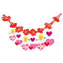 バレンタイン装飾 エンゼルハートガーランド L180cm / ディスプレイ 装飾品 飾り付け