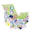アジサイしずくプリーツハンガー L180cm / 装飾 飾り ディスプレイ 紫陽花 梅雨